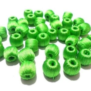 wrapped beads green