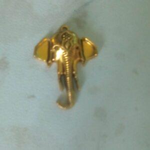 Antique gold Ganesha pendant