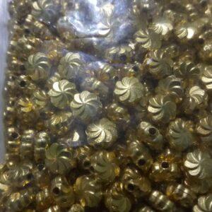 flower beads 5mm gold