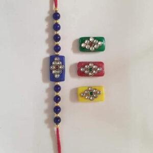 Meena beads rakhi