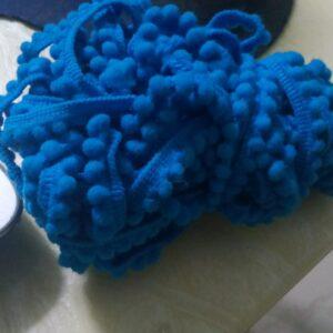blue pompom lace