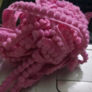 Light pink Pompom lace 1 meter
