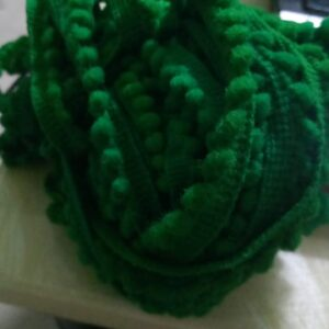 Dark Green Pompom lace 1 meter