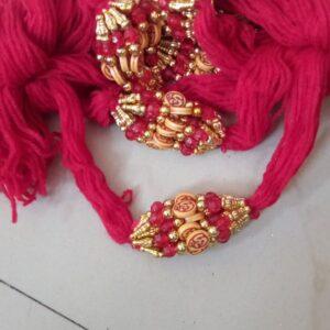 Red thread Om rakhi
