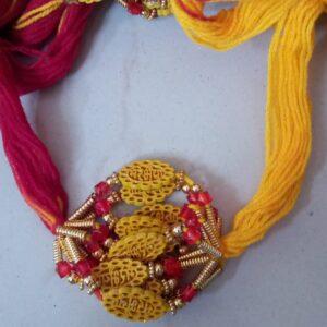 Red and yellow thread mere bhaya rakhi