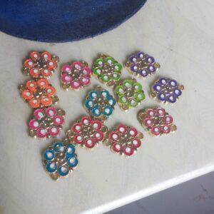 Om flower rakhi bases - 1 piece - any colour