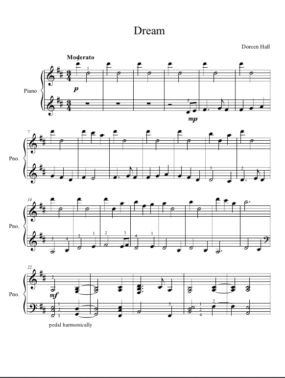 Paloma Piano - Dream - Page 1