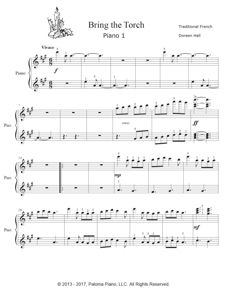 Paloma Piano - Bring The Torch - Page 1