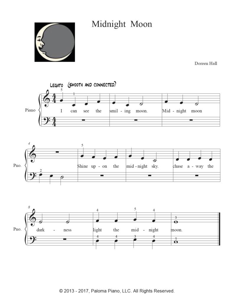 Paloma Piano - Midnight Moon - Page 1