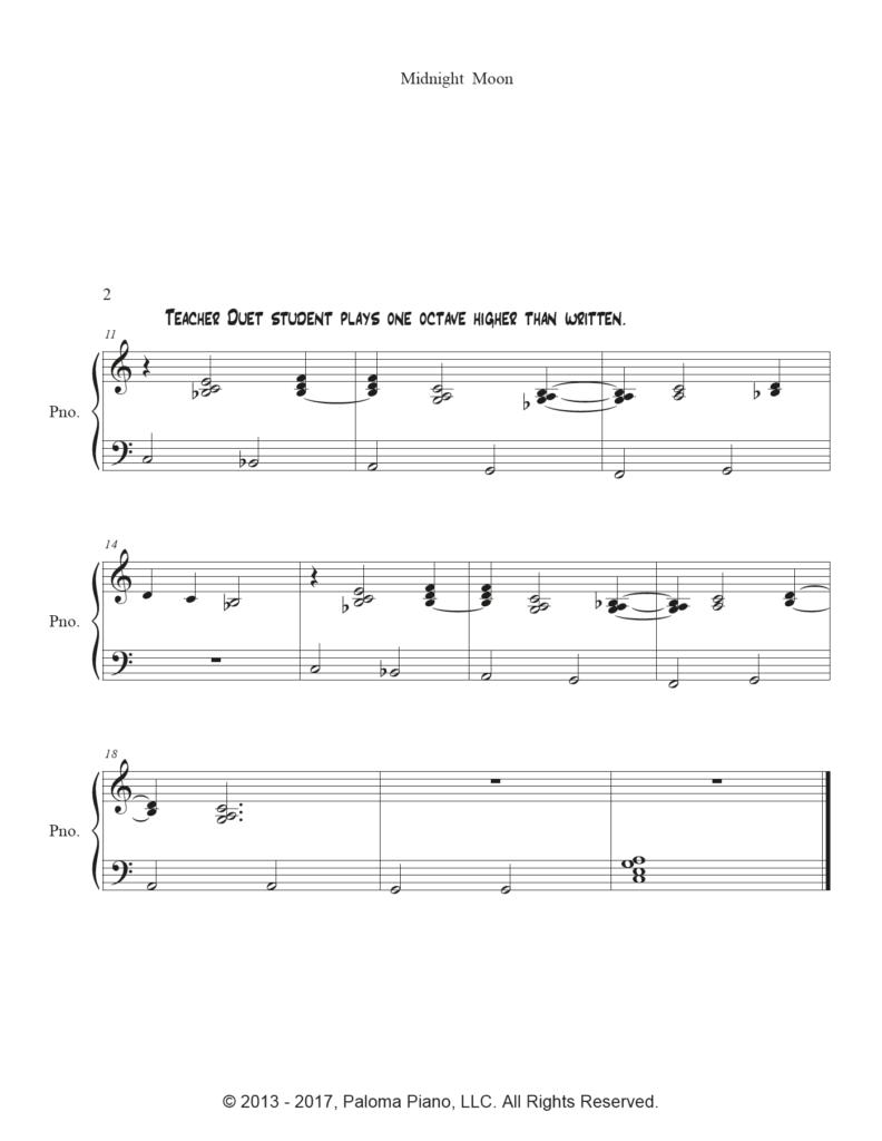Paloma Piano - Midnight Moon - Page 2