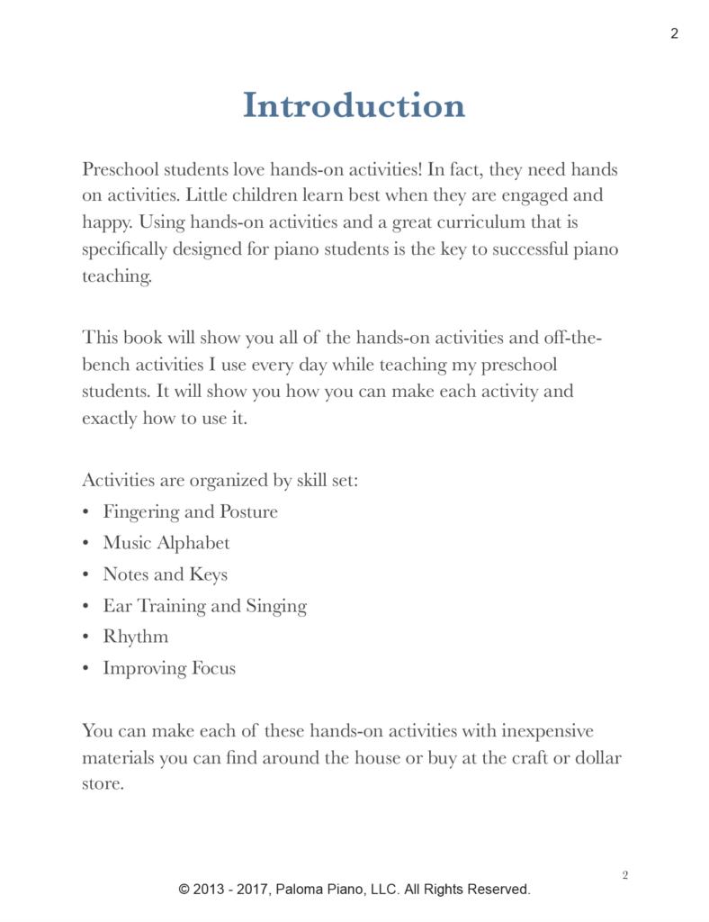 Paloma Piano - Preschool Activities Book - Page 2