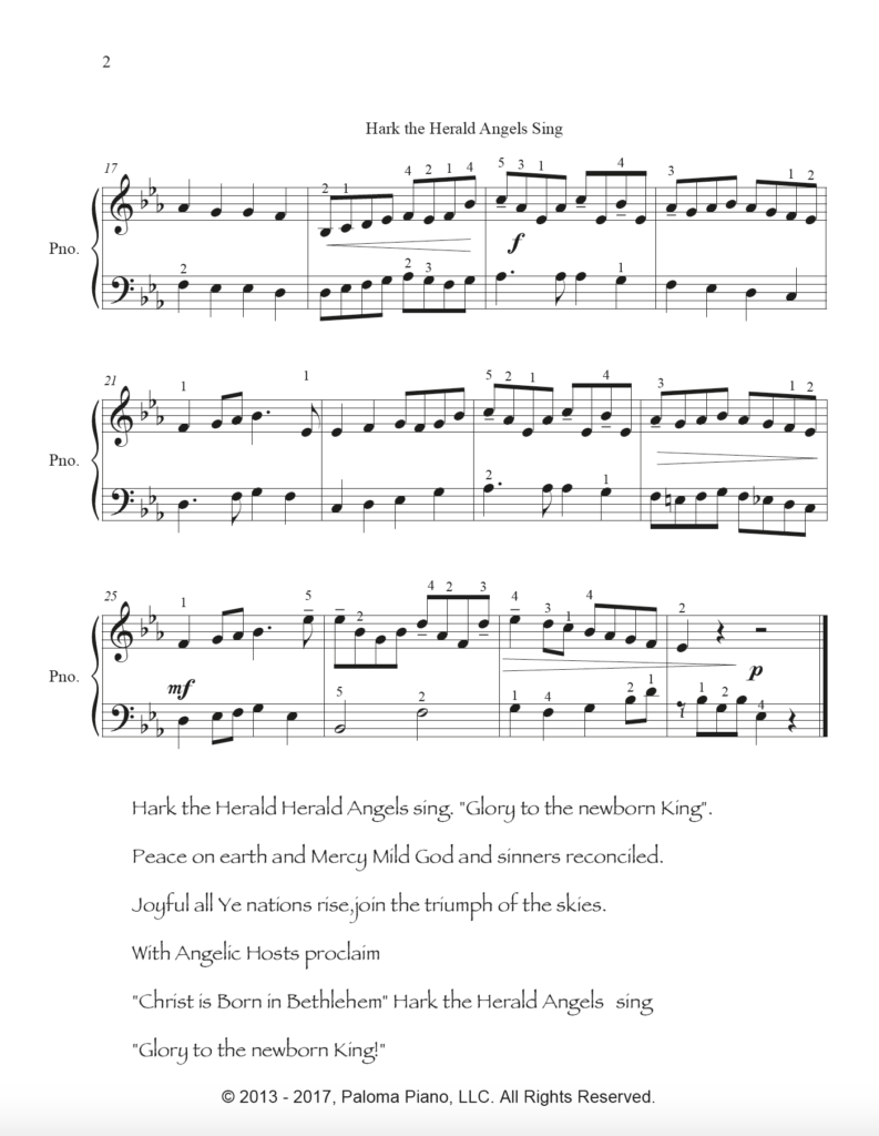 Paloma Piano - Hark the Herald Angels Sing - Page 2