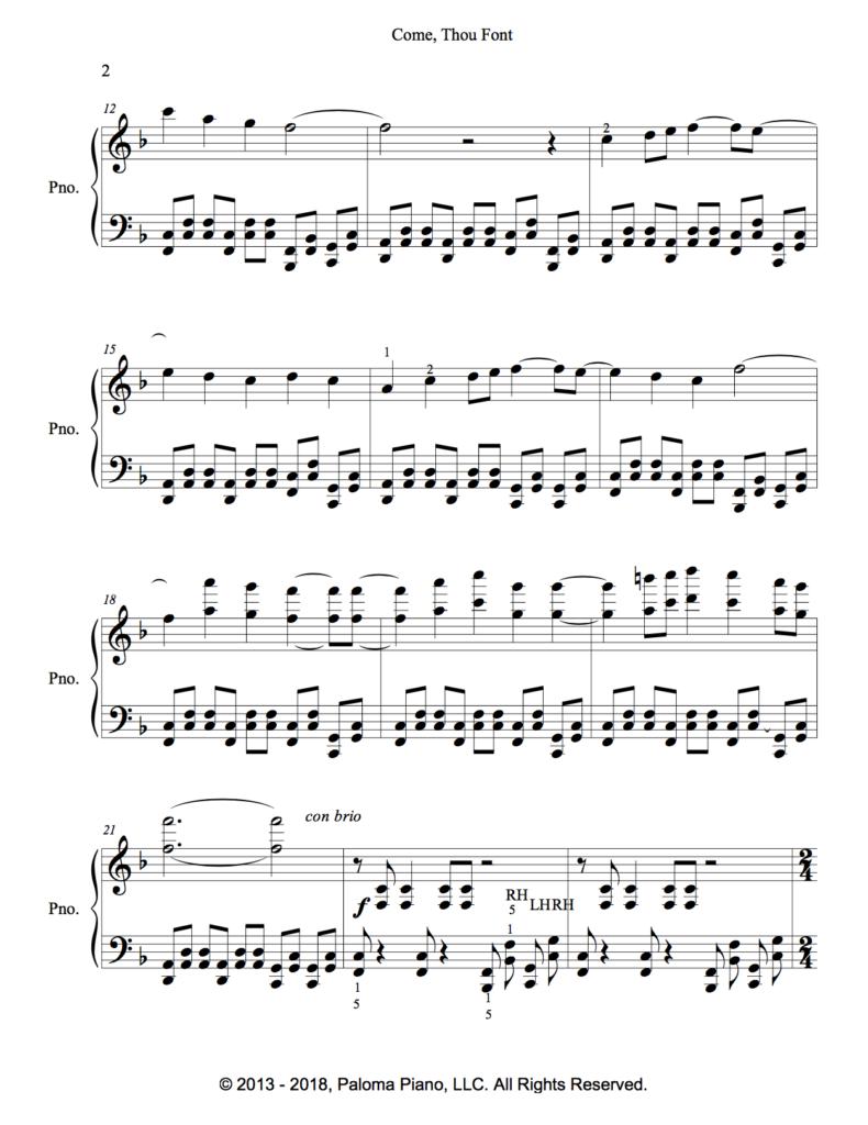 Paloma Piano - Come Thou Font - Page 2