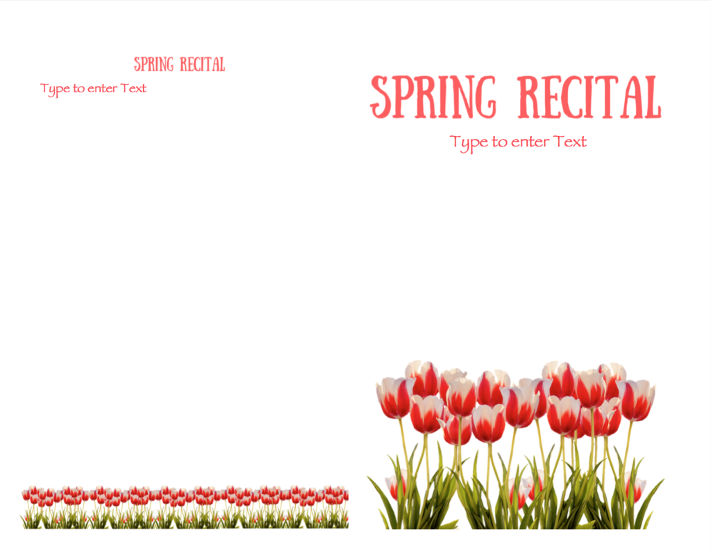 Paloma Piano - Spring Recital - Program Cover and Back