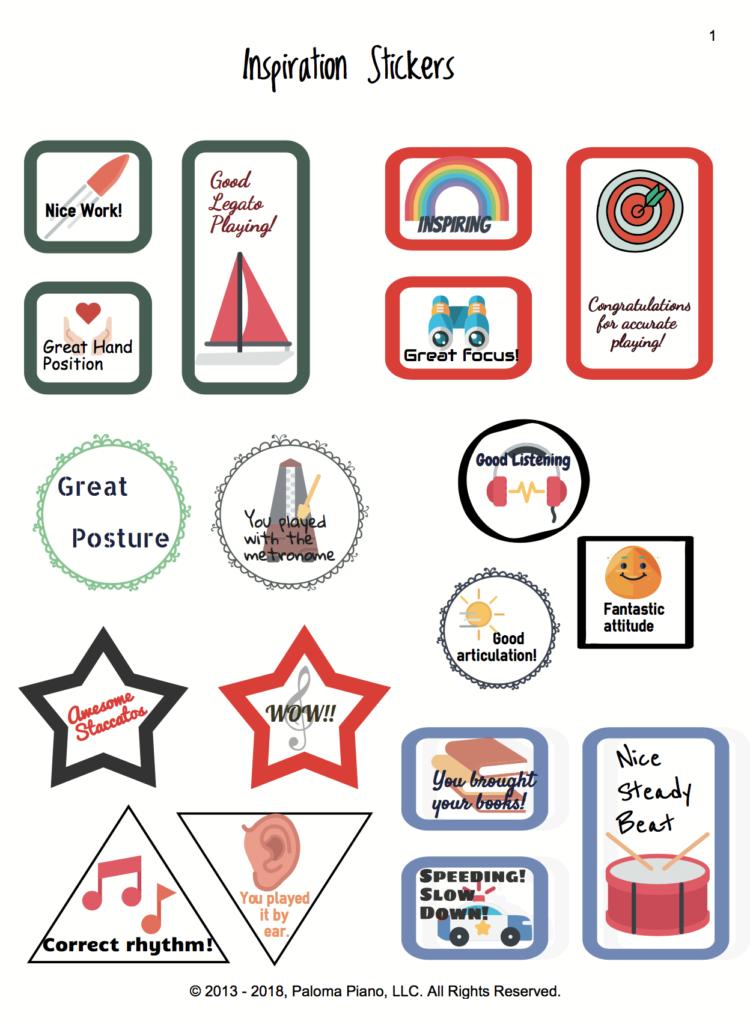 Paloma Piano  - Inspiration Stickers - Page 1