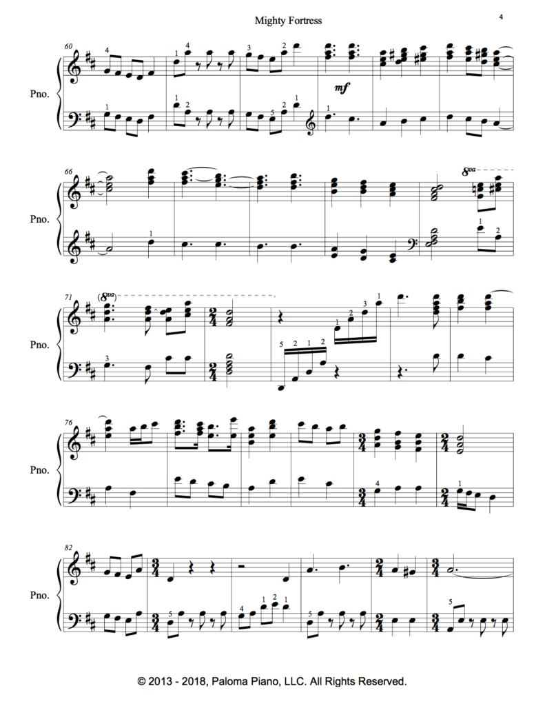 Paloma Piano - Mighty Fortress - Page 3