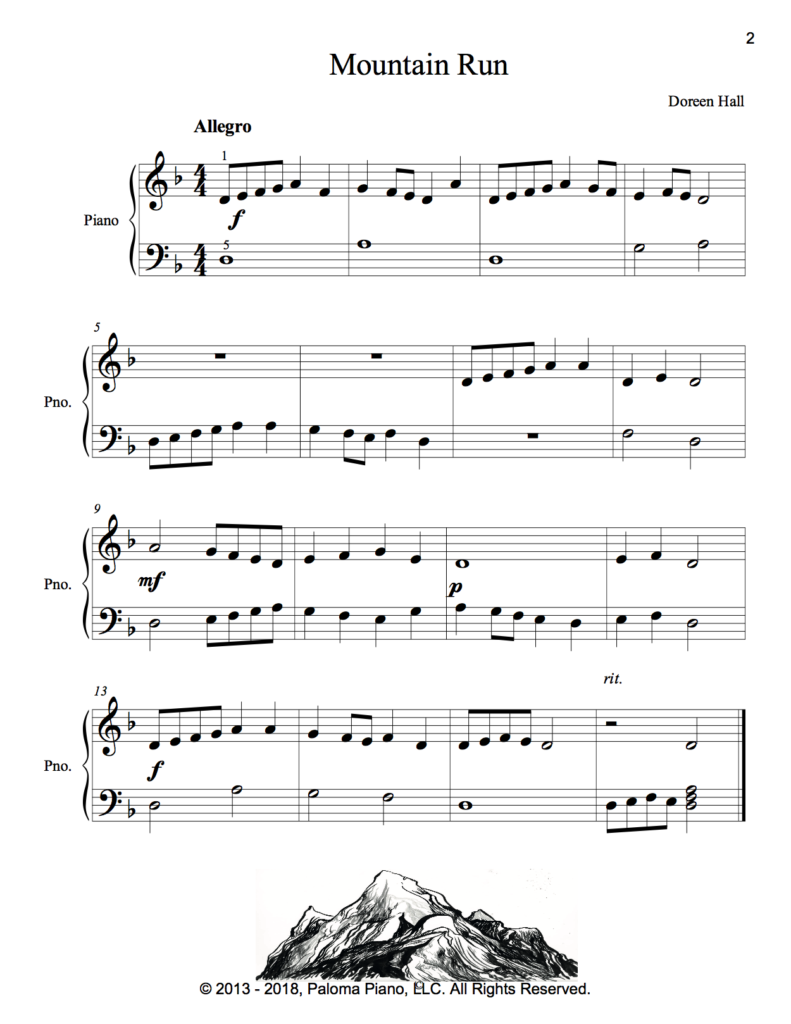Paloma Piano - Mountain Run - Page 2