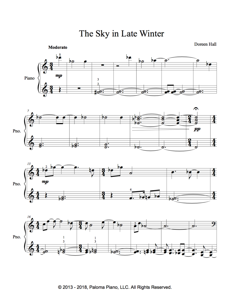 Paloma Piano - The Sky In Late Winter - Page 1
