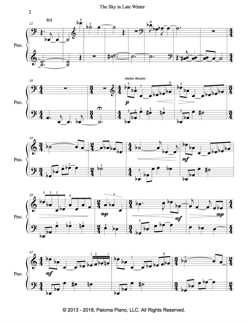Paloma Piano - The Sky In Late Winter - Page 2