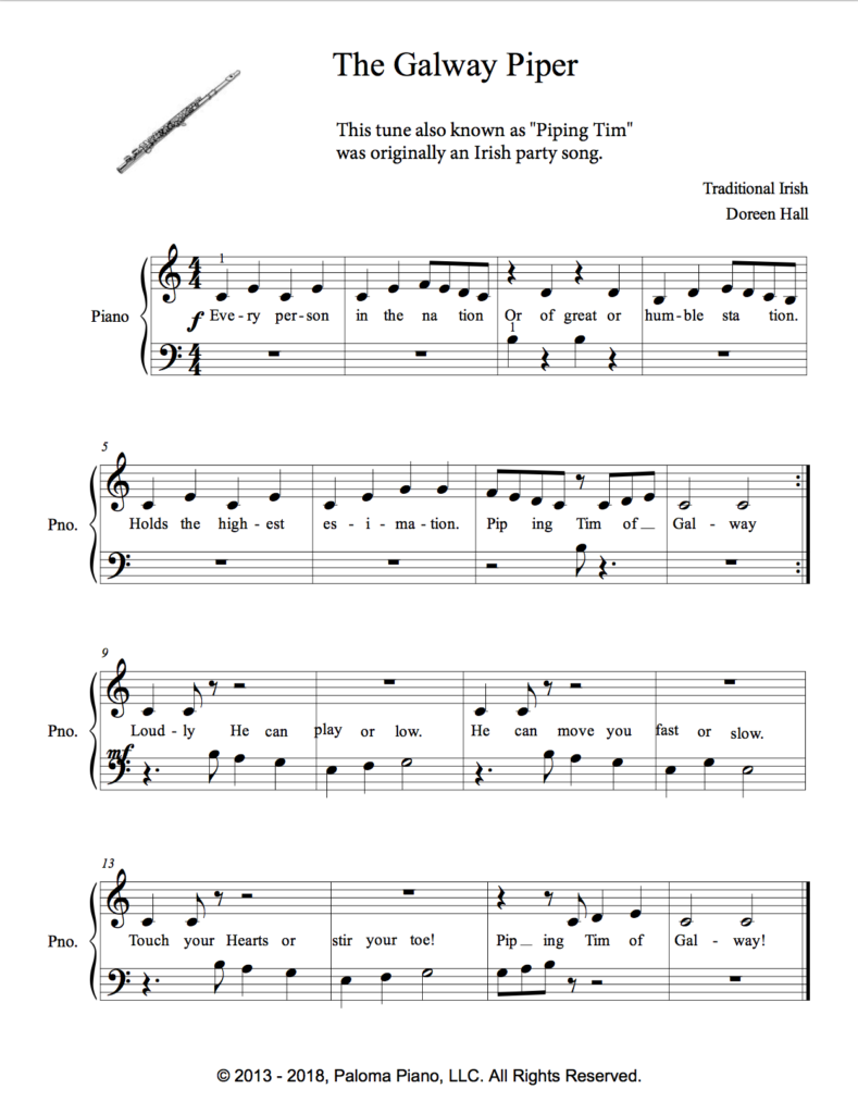 Paloma Piano - Galway Piper - Page 1