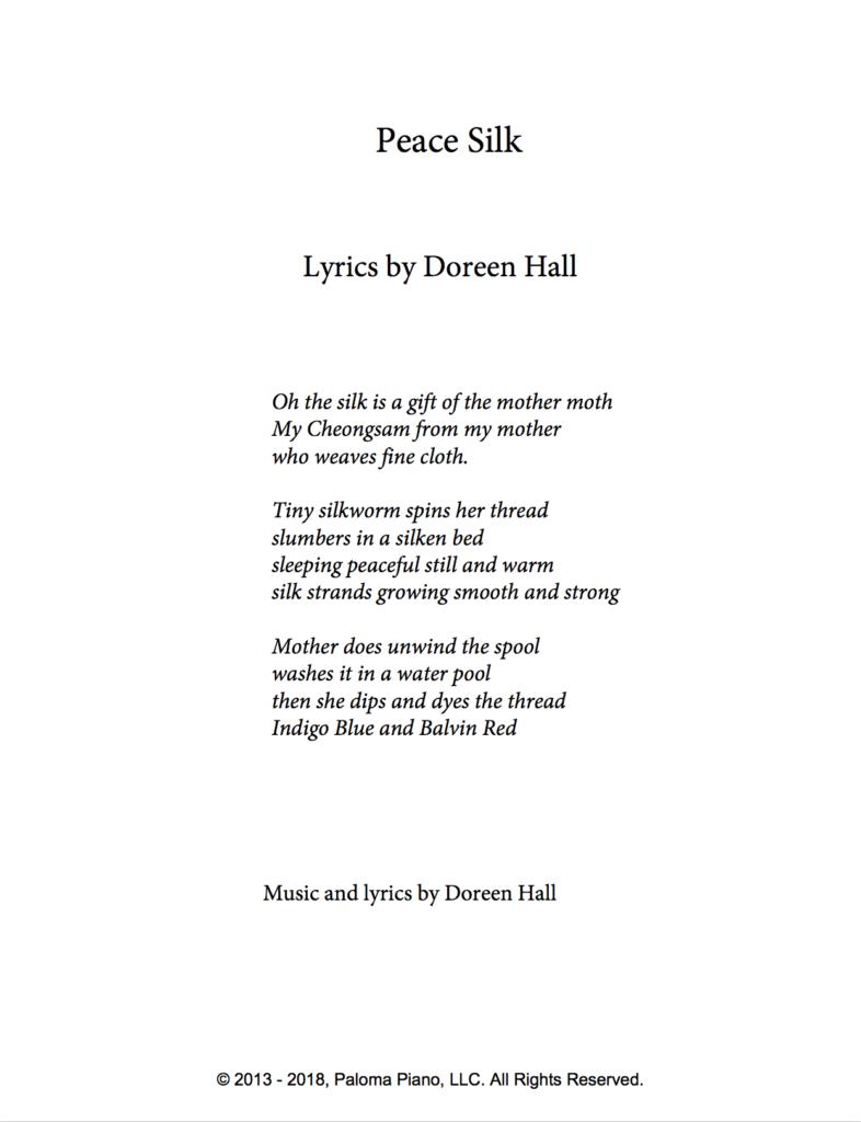 Paloma Piano - Peace Silk - Page 1