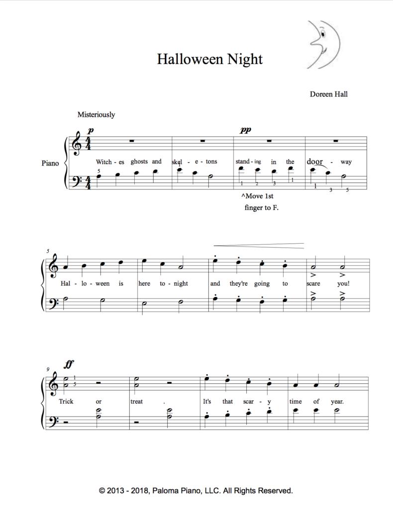 Paloma Piano - Halloween Night - Page 2