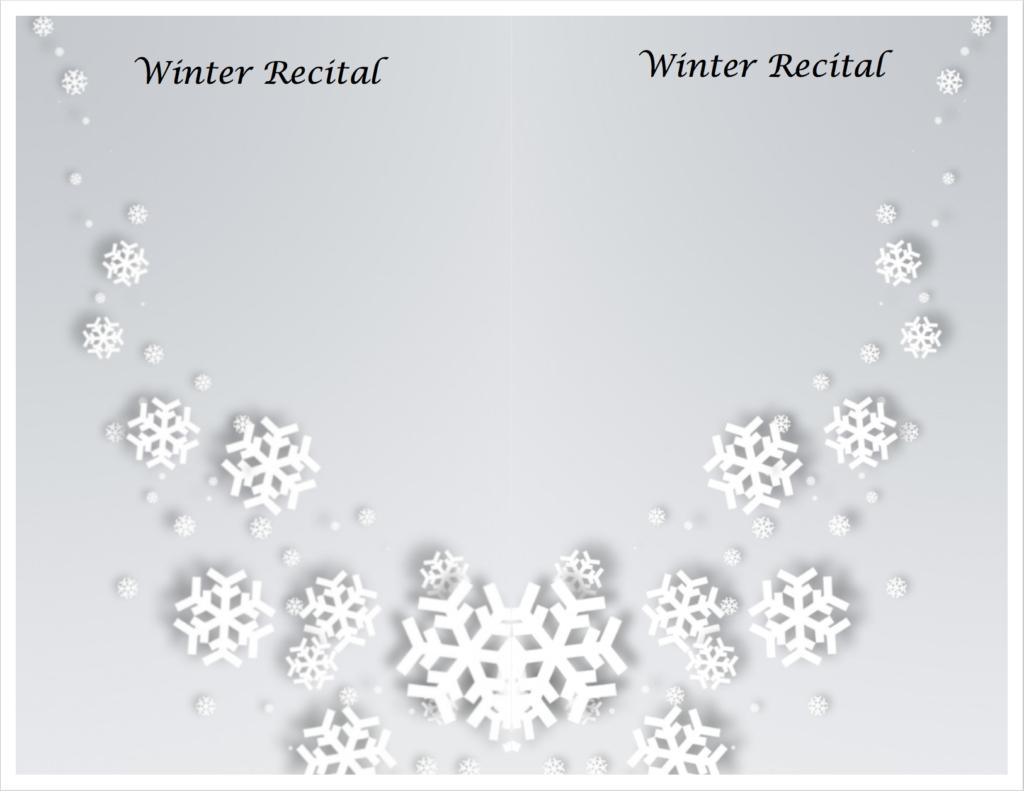 Paloma Piano - Winter Recital - Program Inside