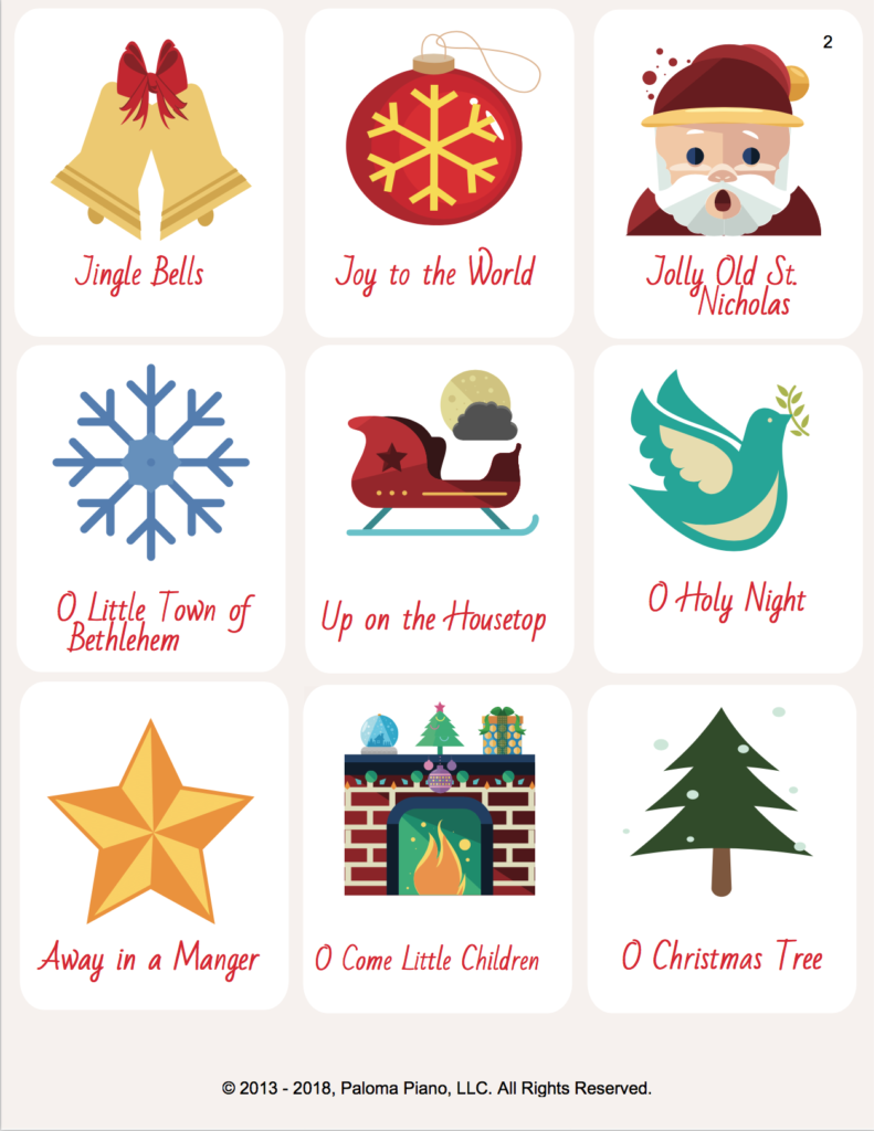 Paloma Piano - Play By Ear Holiday Card Game - Page 2