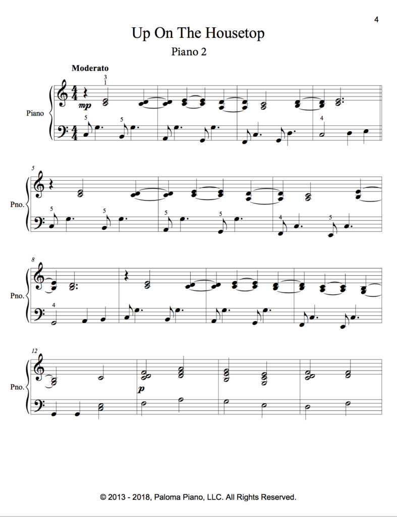 Paloma Piano - Up On The Housetop - Page 4
