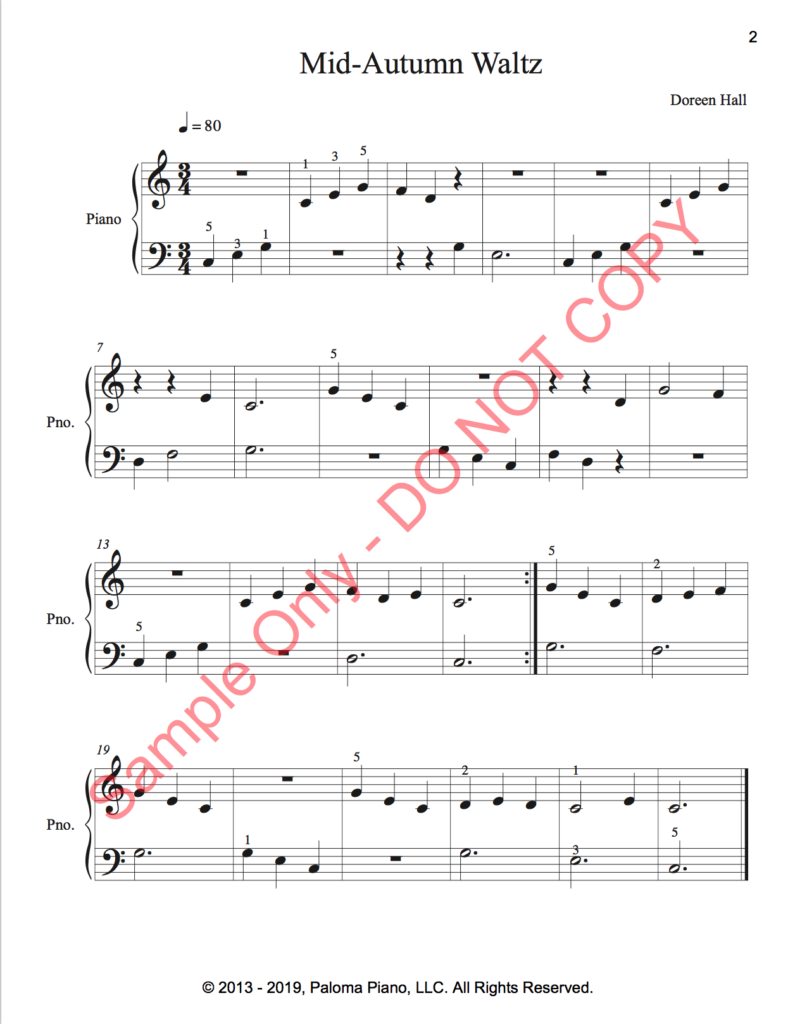 Paloma Piano - Mid-Autumn Waltz - Page 1