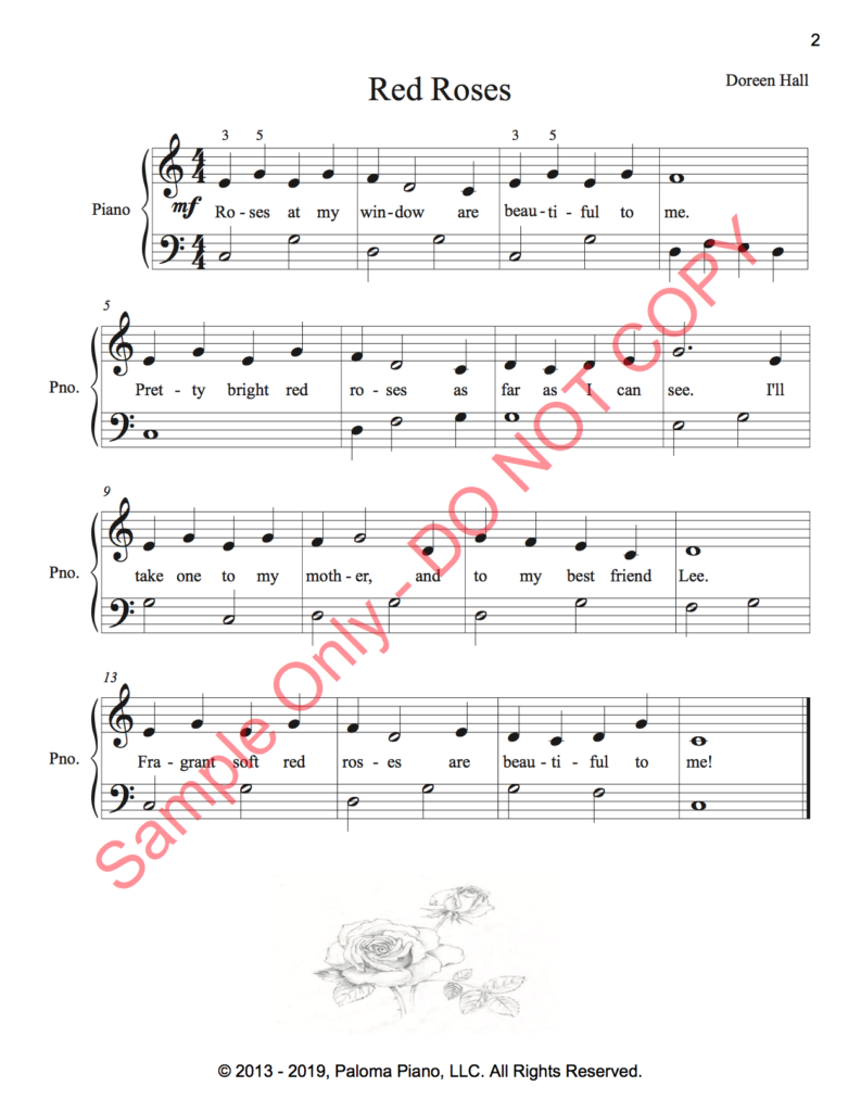Paloma Piano - Red Roses - Page 1