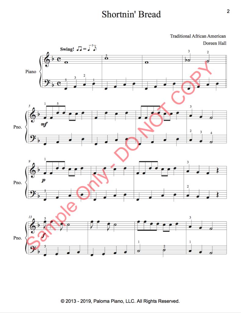 Paloma Piano - Shortnin' Bread -Page 1