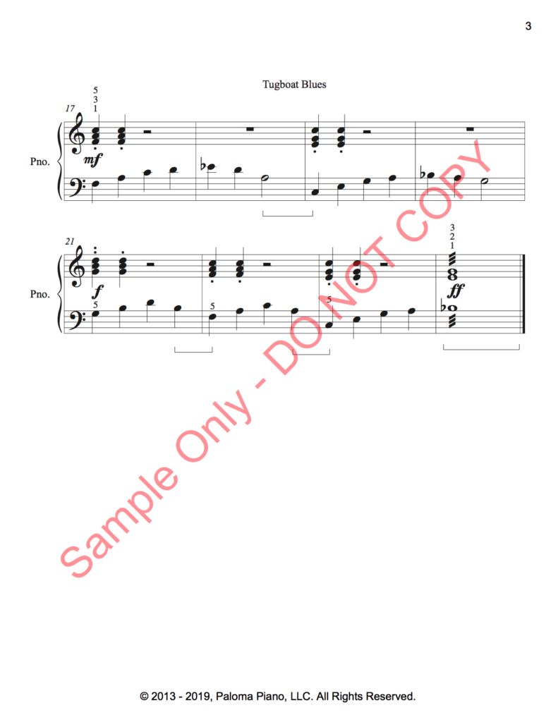 Paloma Piano - Tug Boat Blues - Page 2