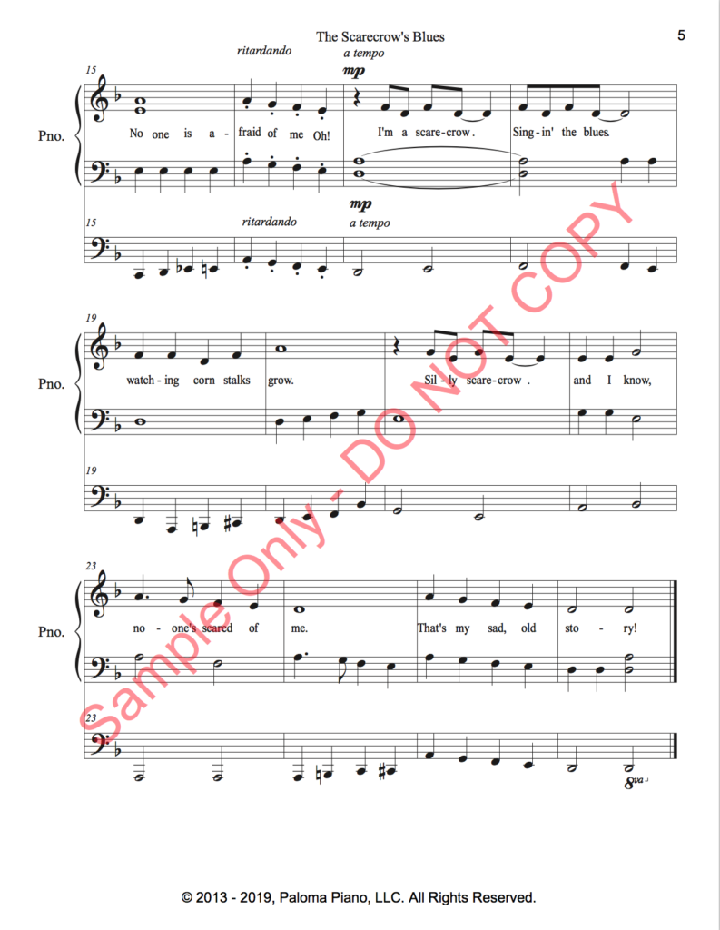 Paloma Piano - The Scarecrow's Blues - Page 4