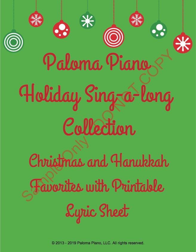 Paloma Piano - Holiday Sing-A-Long