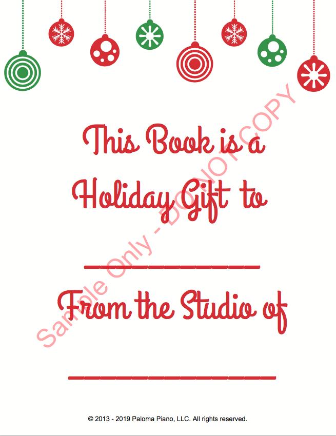 Paloma Piano - Holiday Sing-A-Long - Gift Page