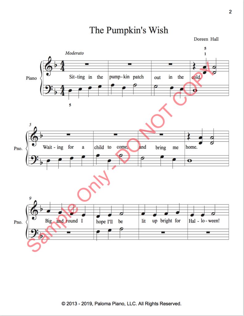 Paloma Piano - The Pumpkin's Wish - Page 1