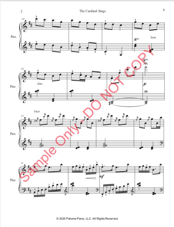 Paloma Piano - The Cardinal Sings - Page 3