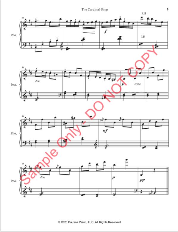 Paloma Piano - The Cardinal Sings - Page 4