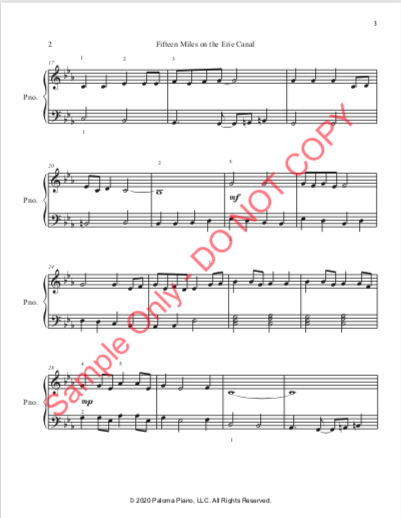 Paloma Piano - Fifteen Miles - Page 2