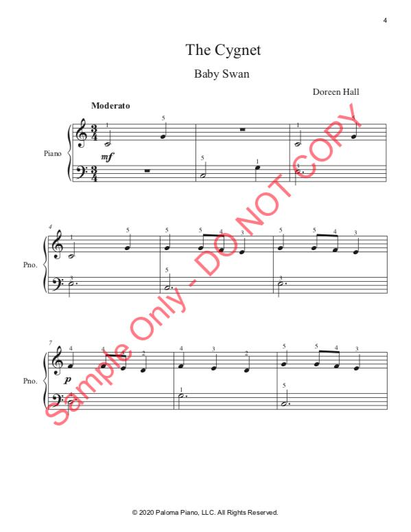 Paloma PIano - Baby Animals Spring - The Cignet - Page 4