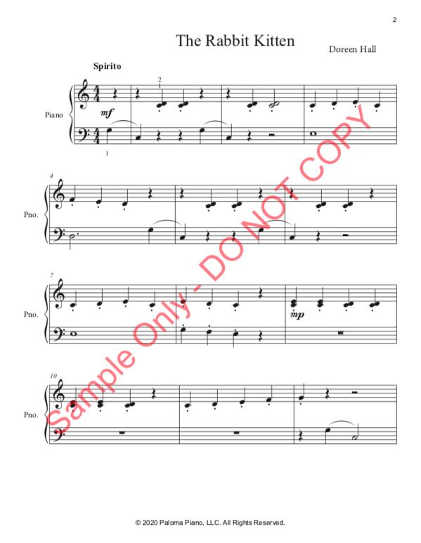 Paloma Piano - Baby Animals Spring - Rabbit - Page 2