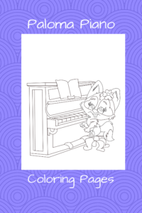 Paloma Piano - Piano Coloring Pages