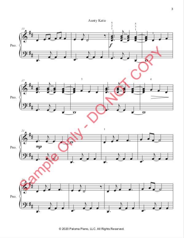 Paloma Piano - Aunty Katie - Page 3