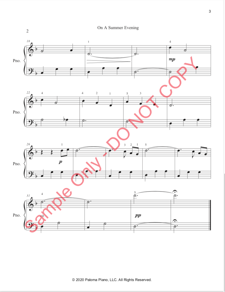Paloma Piano - On a Summer Evening - Page 2