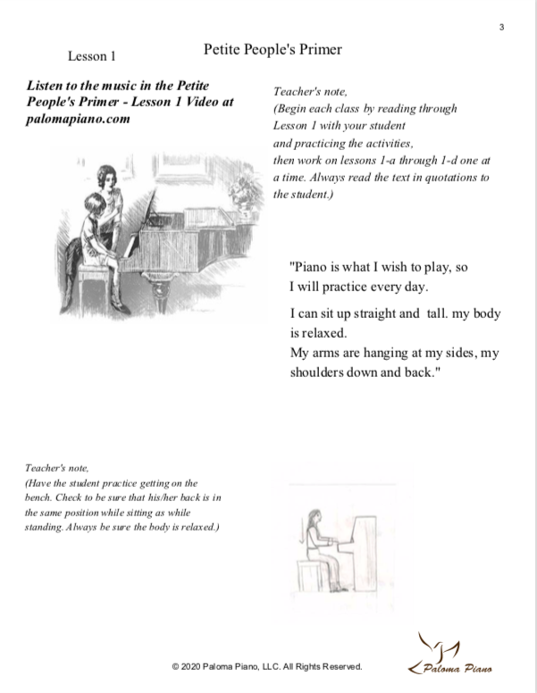 Paloma Piano - Petite People's Primer Lessons 1, 2 and 3 - Page 3