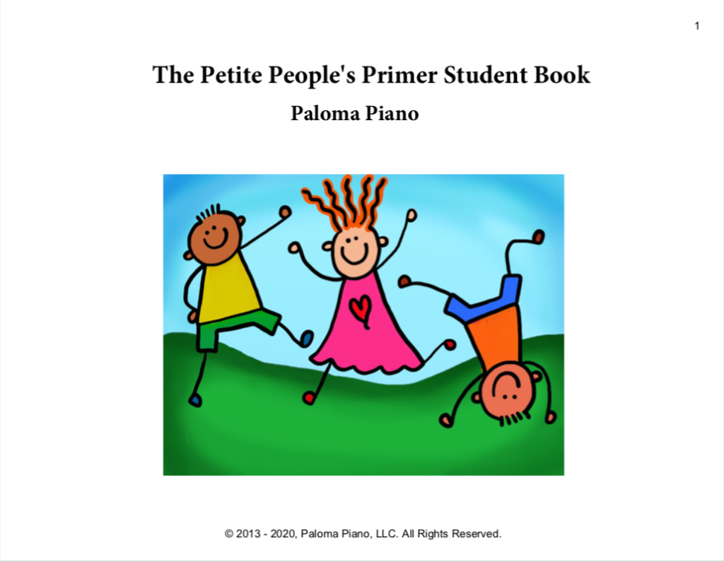 Paloma Piano - Petite People's Primer - Student Book - Page 1