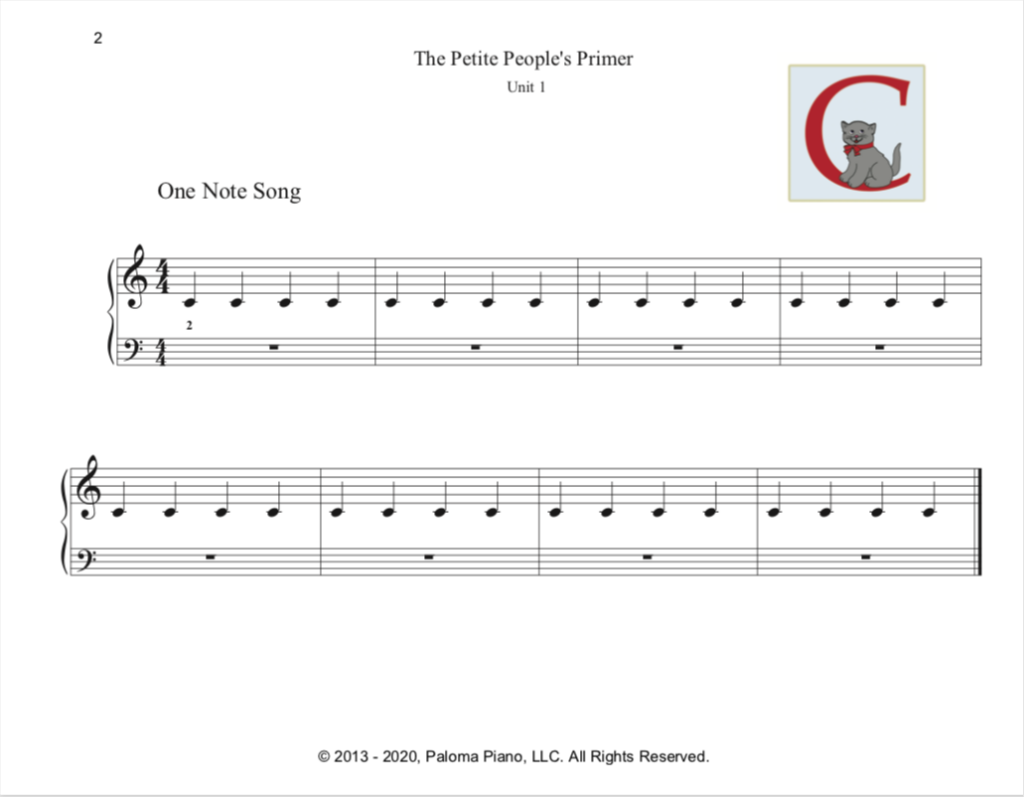 Paloma Piano - Petite People's Primer - Student Book - Page 2