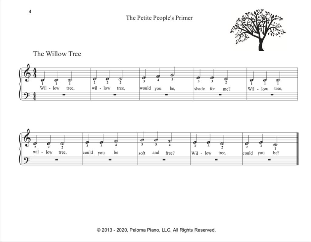 Paloma Piano - Petite People's Primer - Student Book - Page 4