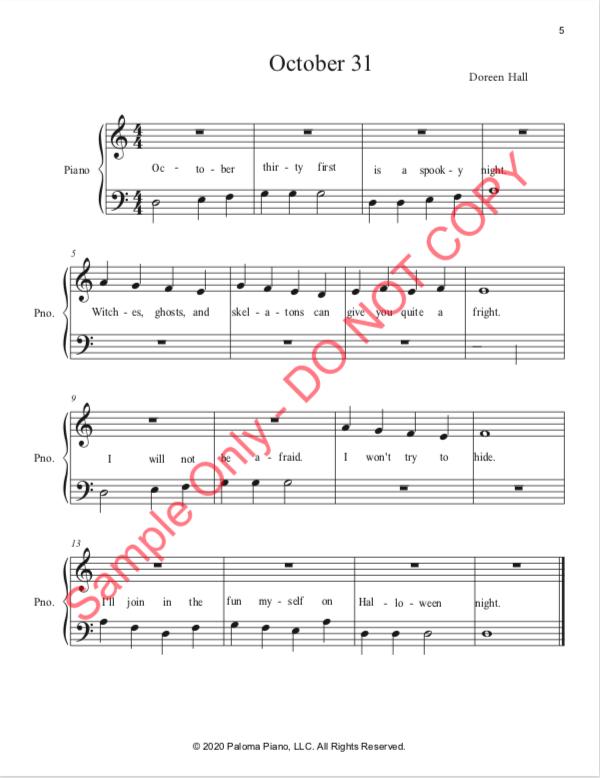 Paloma Piano - Halloween Treats - Page 5